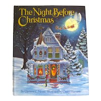 The Night Before Christmas Illustrated by Cheryl Harness - Vintage Childrens Holiday Book