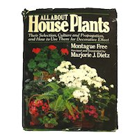 All About House Plants Vintage Gardening Book - Horticulture Book - Gift For Gardener