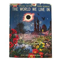 The World We Live In Vintage Children's Science Book - 1950s Illustrated Kids Book FREE SHIPPING
