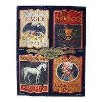 Americana Gift Calendars Salesman Sample Boxed Set - US Bi-Centennial - Early American Merchant Signs
