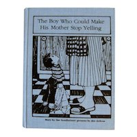 The Boy Who Could Make His Mother Stop Yelling Vintage Unused Library Binding Children's Book by Ilse Sondheimer