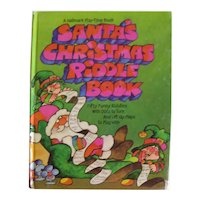 Santa's Christmas Riddle Book With 50 Funny Riddles - Collectible Holiday Book