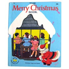 The Merry Christmas Book Christmas Songs and Stories Wonder Books - 1950s Holiday Book