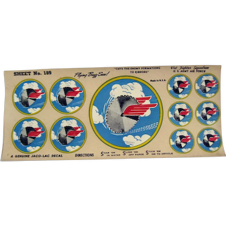 The Flying Buzz Saw Decals from 41st Fighter Squadron - US Army Air Force - Military Decals - Model Planes