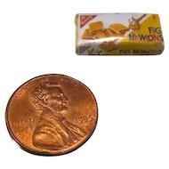 Miniature Box of Fig Newton Cookies - Dollhouse Miniatures - Miniature Food