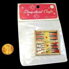 Dollhouse Backgammon Game - Miniature Board Games