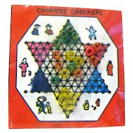 Miniature Chinese Checkers Board in Original Packaging - Dollhoue Board Games