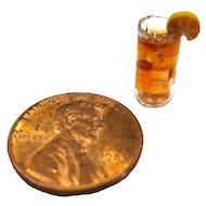Dollhouse Miniature Iced Tea - Miniature Display - Dollhouse Food