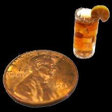 Dollhouse Miniature Iced Tea - Miniature Display - Dollhouse Food