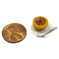 Miniature Dollhouse Grapefruit - Miniature Food - Dollhouse Miniature - Miniature Fruit