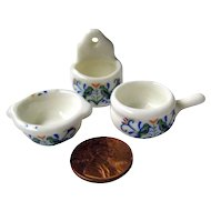 Miniature Kitchen Set - Dollhouse Bowl - Mini Kitchenware - Doll Kitchen
