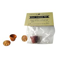 Dollhouse Garden Flower Pots - Miniature Clay Pots - Mini Terracotta Pots