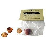 Dollhouse Garden Flower Pots - Miniature Clay Pots - Mini Terracotta Pots