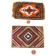 Tobacco Silks - Miniature Dollhouse Rugs - Doll Carpets - Dollhouse Decor