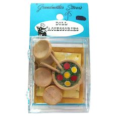 Miniature Salad Set by Grandmother Stover Doll Accessories Miniature Food - Dolls House