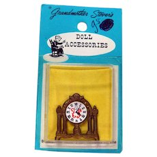 Dollhouse Furniture Mantle Clock by Grandmother Stover - Dollhoue Miniatures