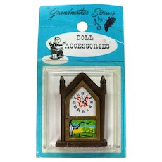 Miniature Mantle Clock by Grandmother Stover Doll Accessories - Dollhouse Miniatures - Dollhouse Furniture