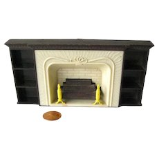 Dollhouse Fireplace by Plasco Dollhouse Miniature Furniture for Fairy House or Doll House