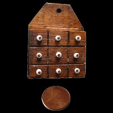Miniature Spice Cabinet For Dollhouse or Fairy Cottage - Dollhouse Furniture - Dollhouse Miniatures