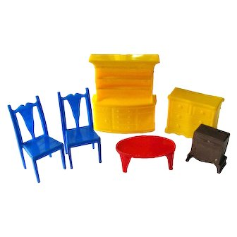 Dollhouse Furniture Lot By Plasco Toys Superior Toys Dollhouse Living Room Furniture Miniature Furniture