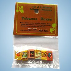 Miniature Tobacco Boxes in Original Packaging - Doll House Accessories - Miniature Smoking Room