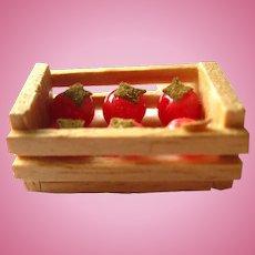 Miniature Tomato Crate Dollhouse Miniatures Miniature Farm Decor Dolls House Food