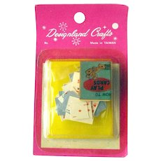 Dollhouse Playing Cards and Bridge Set Miniature Card Set NOS Miniature Game Room