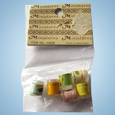 Dollhouse Jam and Jelly Set Miniature NOS Dolls House Food Dollhouse Kitchen Dollhouse Accessories