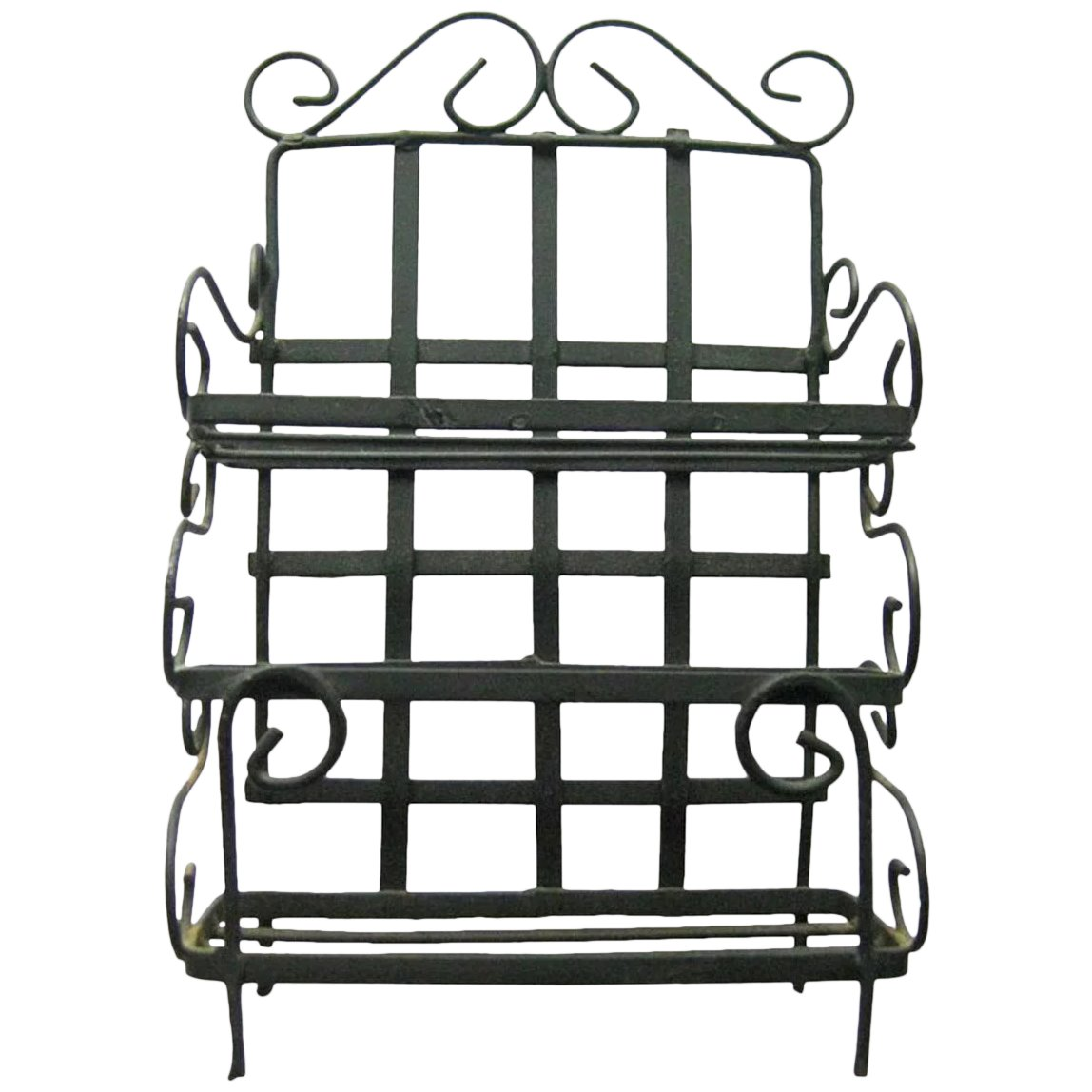 Dollhouse Miniature Bakers Rack in Black Wire