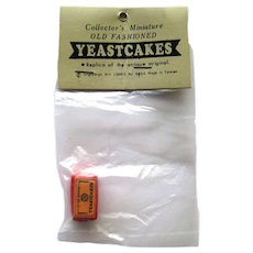 Dollhouse Yeast Cake NOS Miniature Bakery Dolls House Food