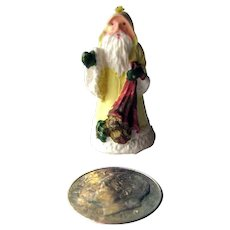 Dollhouse Victorian Style Santa Figurine - Miniature Santa Claus - Dollhouse Holiday Decor