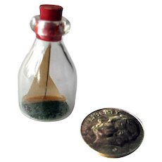 Dollhouse Ship In A Bottle Miniature Decor - Dollhouse Den - Collectible Miniatures