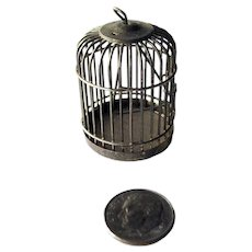 Dollhouse Wire Bird Cage - Vintage Miniatures - Doll House Miniature
