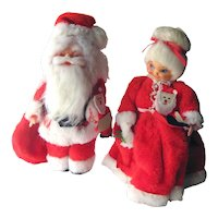 Mr and Mrs Santa Claus Soap Bottle Figures