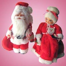 Mr and Mrs Santa Claus Soap Bottle Figures