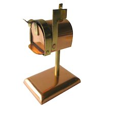Miniature Mailbox - Dollhouse Miniatures - Brass and Copper Miniature