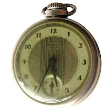 1930s WESTCLOX Dollar Pocket Watch in Working Condition