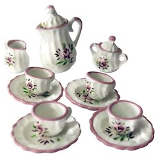 Miniature Hand Painted Tea Set For Your Dollhouse or Miniature Collection
