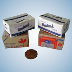 Miniature Beer Cases Dollhouse Miniatures