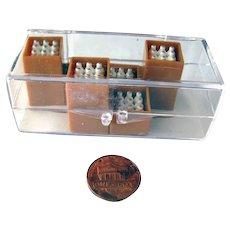 Miniature Milk Crates For Dollhouse or Railroad Display - NOS O-Gauge - Miniature Farm Accessories