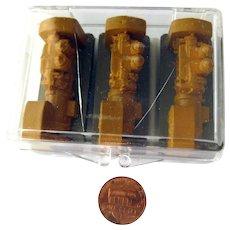 Railroad Display Miniature O-Gauge Engines - Dollhouse Miniature Gas Station