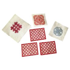 Miniature Placemats and Tapestries - Hand Sewn Tapestries - Dollhouse Tapestries - Miniature Needlepoint