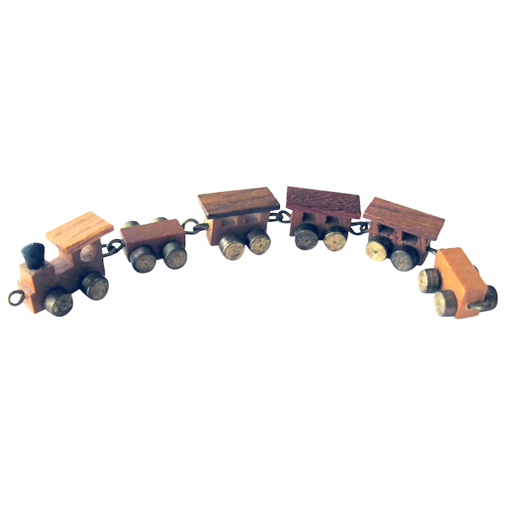 Astonishing Miniature Wood Toy Train With Brass Wheels Dollhouse Toys Miniature Toys Machost Co Dining Chair Design Ideas Machostcouk