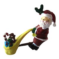 Dollhouse Santa Dragging a Full Sack of Toys - Doll House Miniatures - Dolls House Christmas