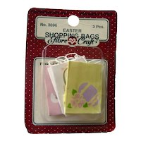 MIniature Gift Bags Easter or Spring Theme - Dollhouse Accessories