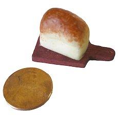 Miniature Bread on Breadboard, Dollhouse Miniature Kitchen Food, Fairy Garden
