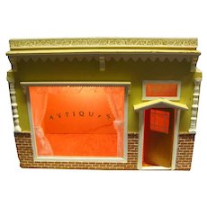 Miniature Antique Store With Working Lights - Miniature Room Box - Handmade Dollhouse