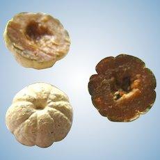 Miniature Cantaloupe Set Of Three - Dollhouse Food - Mini Food - Dollhouse Kitchen - Miniature Restaurant Food