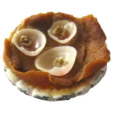 Oysters On Half Shell Miniature Plate - Miniature Seafood - Miniature Restaurant - Tiny Food - Dollhouse Food
