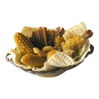 Miniature Harvest Basket For Dollhouse - Miniature Food - Doll House Thanksgiving